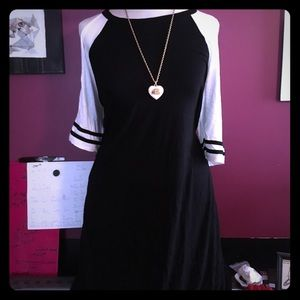 Open shoulder jersey dress new with tags